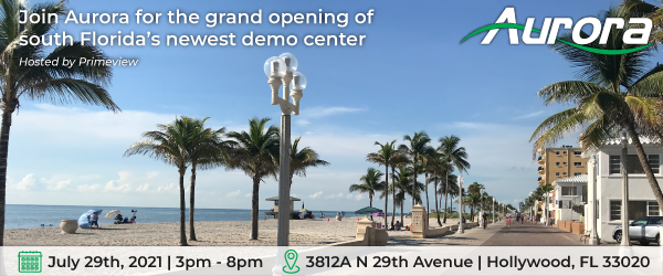 Join Aurora for the grand opening of south Florida's newest AV demo center